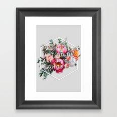 Flower Typography Framed Art Print