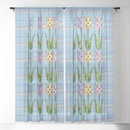 Tulip Row II Sheer Curtain