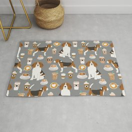 Beagle coffee dog breed gifts pupuccino dog lover beagles pure breed Rug