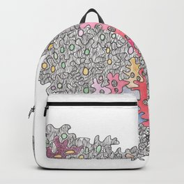 My Heart To You  Micron Pen Drawing Backpack