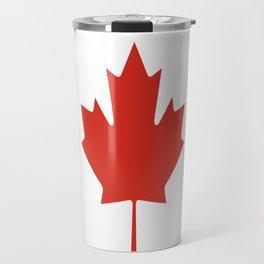 red maple leaf flag of Canada Travel Mug