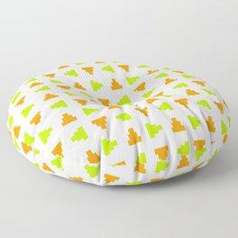 Pyramid 2 - green and orange Floor Pillow