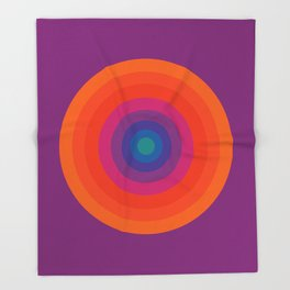 Retro Bullseye Pattern Throw Blanket