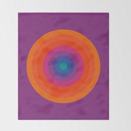 Retro Bullseye Pattern Throw Blanket