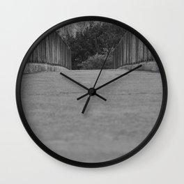 Passerelle au dessus d'une #autoroute Wall Clock