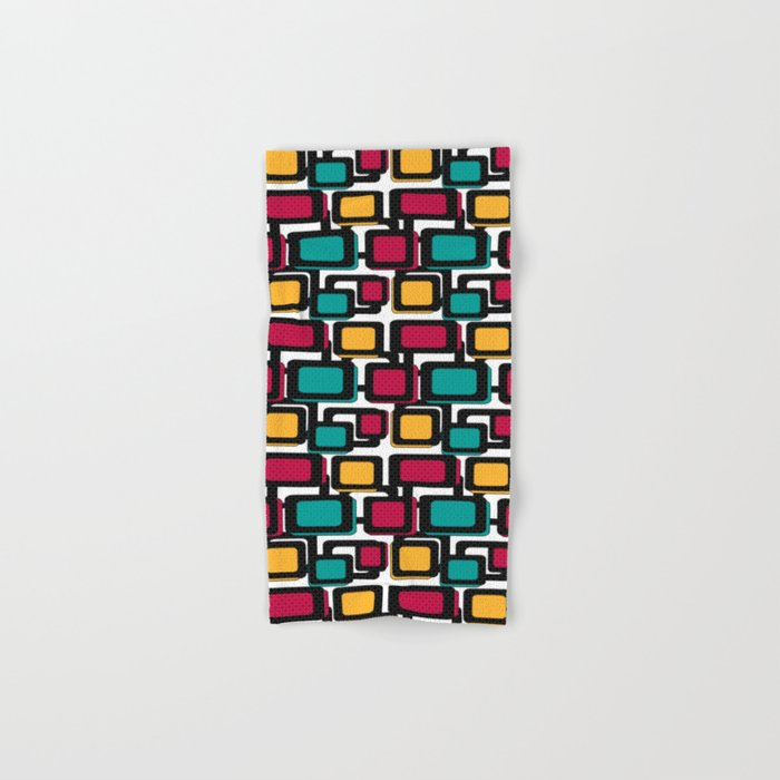 Seamless pattern with geometric elements Hand & Bath Towel