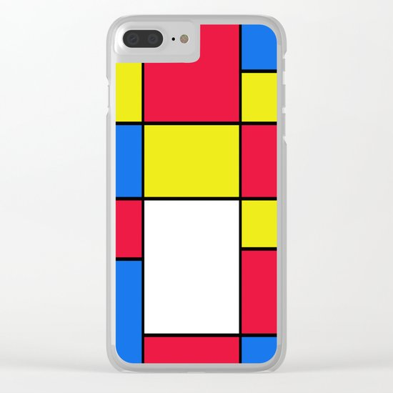 Abstract #402 Clear iPhone Case