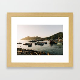 Sunset at Tai O Framed Art Print