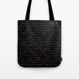 Fig Burst + Journal Writing Overlay Tote Bag