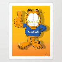 garfield Art Prints featuring GARFIELD by Dano77