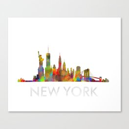 NY-New York Skyline HQ Canvas Print