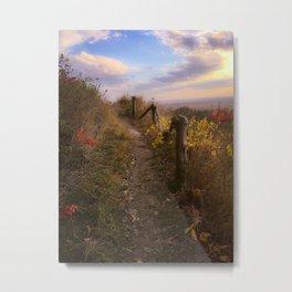 prairie fence Metal Print