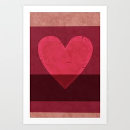 Tattered Heart Art Print