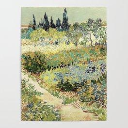 Vincent Van Gogh : Garden at Arles Poster