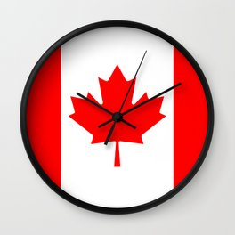 The National Flag of Canada, Authentic color and 3:5 scale version  Wall Clock