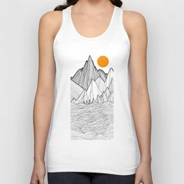 The waves and the mountains under the sun Unisex Tank Top