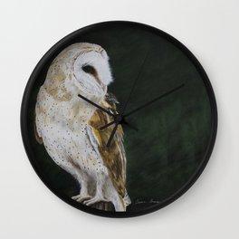 Jazz The Barn Owl by Teresa Thompson Wall Clock