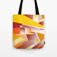 orange pattern Tote Bags featuring Orange pattern by sladja