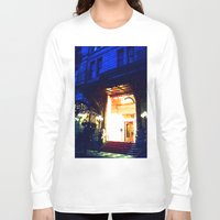 outdoor Long Sleeve T-shirts featuring In Through the Outdoor~ New York City by 13th Moon Social Club