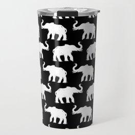 Elephants on Parade Black Travel Mug