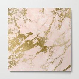 Champagne Blush Marble Metal Print