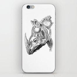 Rhino engraving iPhone Skin