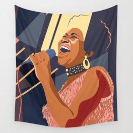 Aretha Franklin Portrait Wall Tapestry