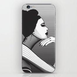 Black and White Female iPhone Skin