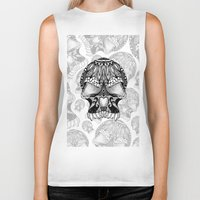 sugar skull Biker Tanks featuring Sugar Skull.  by Digi Treats 2