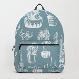 Cactus Pattern Teal Backpack