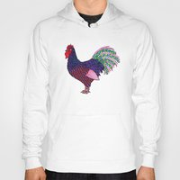 rooster Hoodies featuring Rooster by Michalacaney