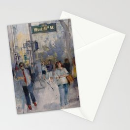 West 42nd Street - What's the Hurry. Stationery Cards