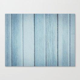 Texture fence rough blue wood Canvas Print