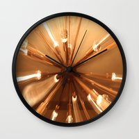 chandelier Wall Clocks featuring chandelier by Chris Cooch