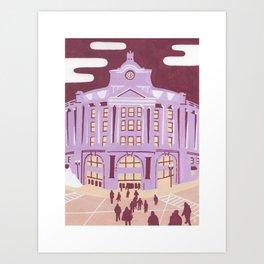 South Station - Boston Landmarks Art Print