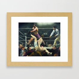Dempsey and Firpo by George Bellows Framed Art Print
