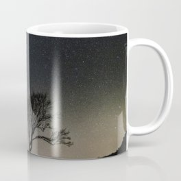Silhouette Under Stars Coffee Mug