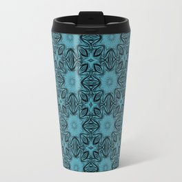 Aquamarine Floral Travel Mug