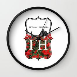 Scottie Roses Wall Clock