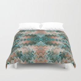 South Western Desert Colors Wavy Mosaic Duvet Cover