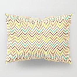 Modern geometrical pink yellow green chevron zigzag pattern Pillow Sham