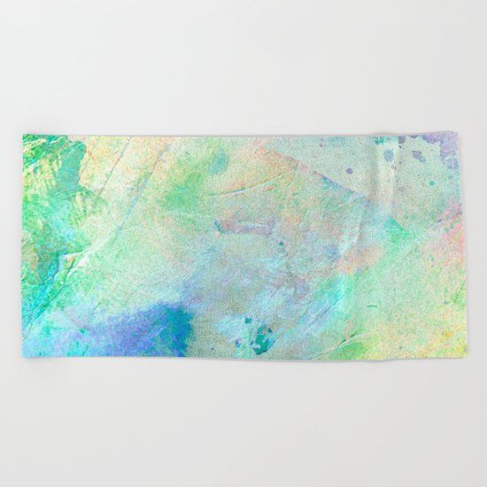 Pastel Color Splash 06 Beach Towel