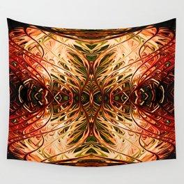 Scarlet Pearl Sea Fan by Chris Sparks Wall Tapestry
