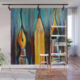 Pen, Pencil, Brush Wall Mural