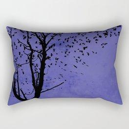 Purple Flight Rectangular Pillow
