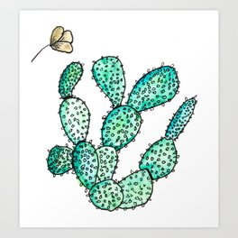 """""""Have a Fan Cactus Day"""" Art Print"""