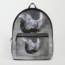 Yin Yang Owl and Raven Backpack