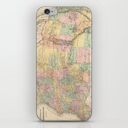 Vinage Map of The United States (1873) iPhone Skin