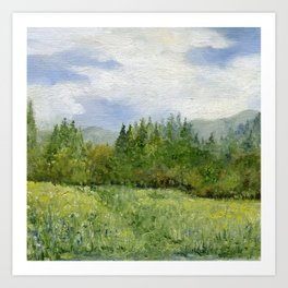 Underhill Fields Art Print
