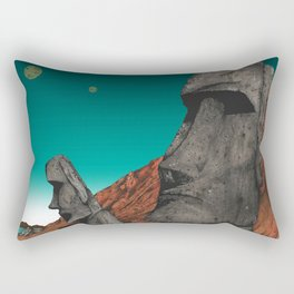 Easter Island 1 Rectangular Pillow